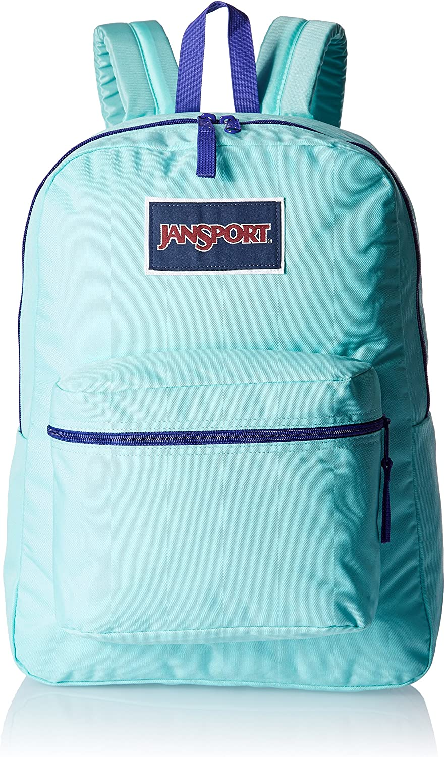 "JanSport Womens Classic Mainstream Overexposed Backpack - Aqua Dash/Violet Purple / 16.7""H X 13""W X 8.5""D"