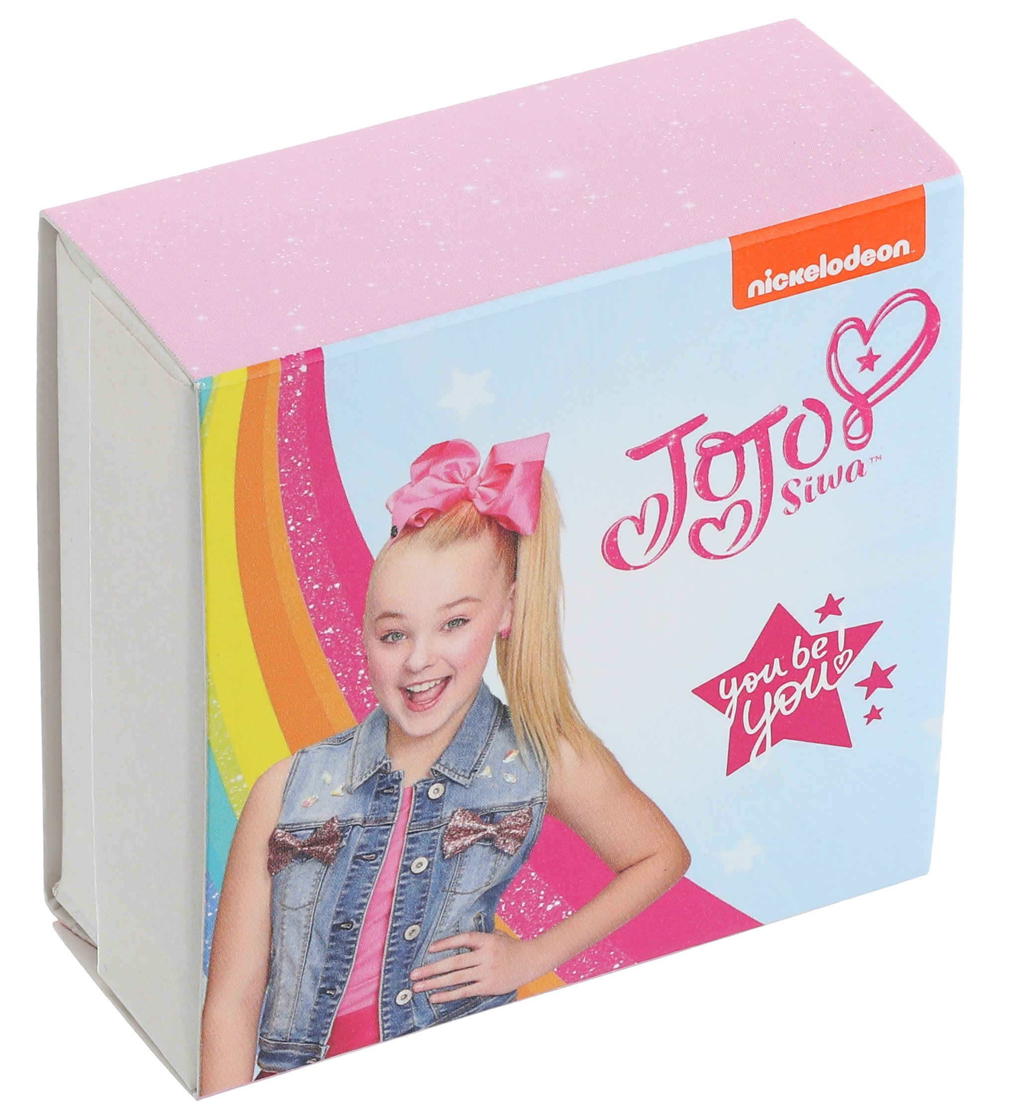 Nickelodeon Girls Jojo Siwa Silver Plated Bow & Cupcake Mix Match Stud Earrings, Multi by Nickelodeon (Image #3)