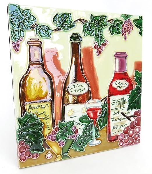 Para botella de vino, diseño de, para pared, 20,32 cm X 20,32 cm ...