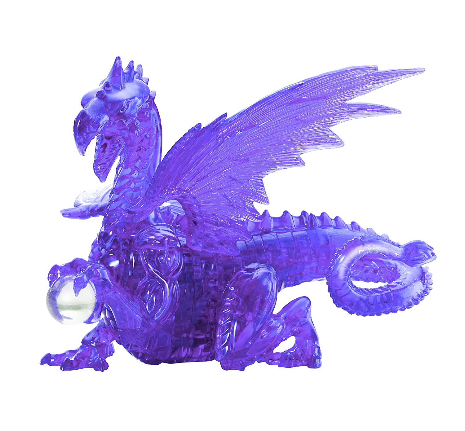 Bepuzzled Original 3D Deluxe Crystal Dragon Puzzle (56 Piece), Red University Games 31052
