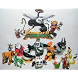 Kung Fu Panda 3 Movie Deluxe Figure Toy Set of 13 with Po, Master Shifu, the Furious Five and New Characters Li, Bao,the Evil Spirit Kai and More!