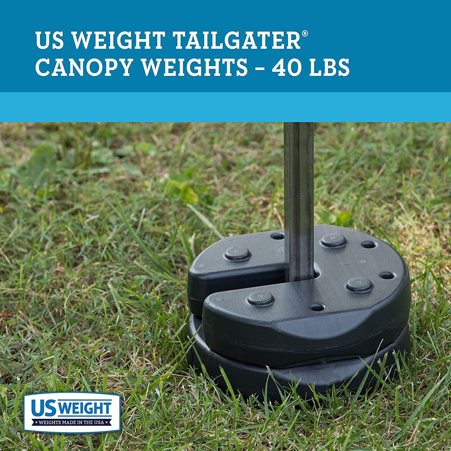 US Weight Tailgater Canopy Weights with No-Pinch Design ...
