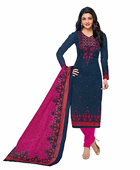 eb8721ee72 Miraan Women's Cotton Printed Unstitched Churidar Suit Dress Material(SGPRI601_Blue_Free  Size): Amazon.in: Clothing & Accessories