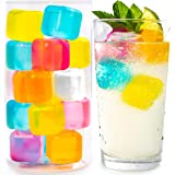 Reusable Ice Cubes For Drinks - Chills Drinks Without Diluting Them - Made From BPA Free Plastic - Refreezable, Washable…