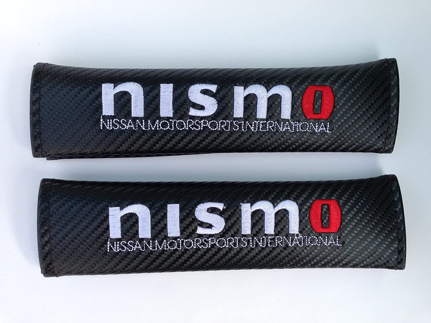 1 Pair Carbon Fiber Racing Sports Style Car Seat Belt Cover Shoulder Pads for nismo