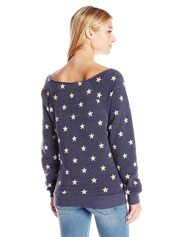 Alternative Womens Maniac Printed Eco-Fleece Sweatshirt