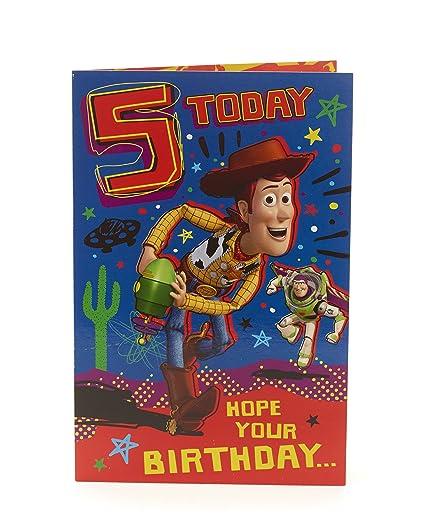 Amazon Disney Toy Story Woody 5th Birthday Card Fun Maze
