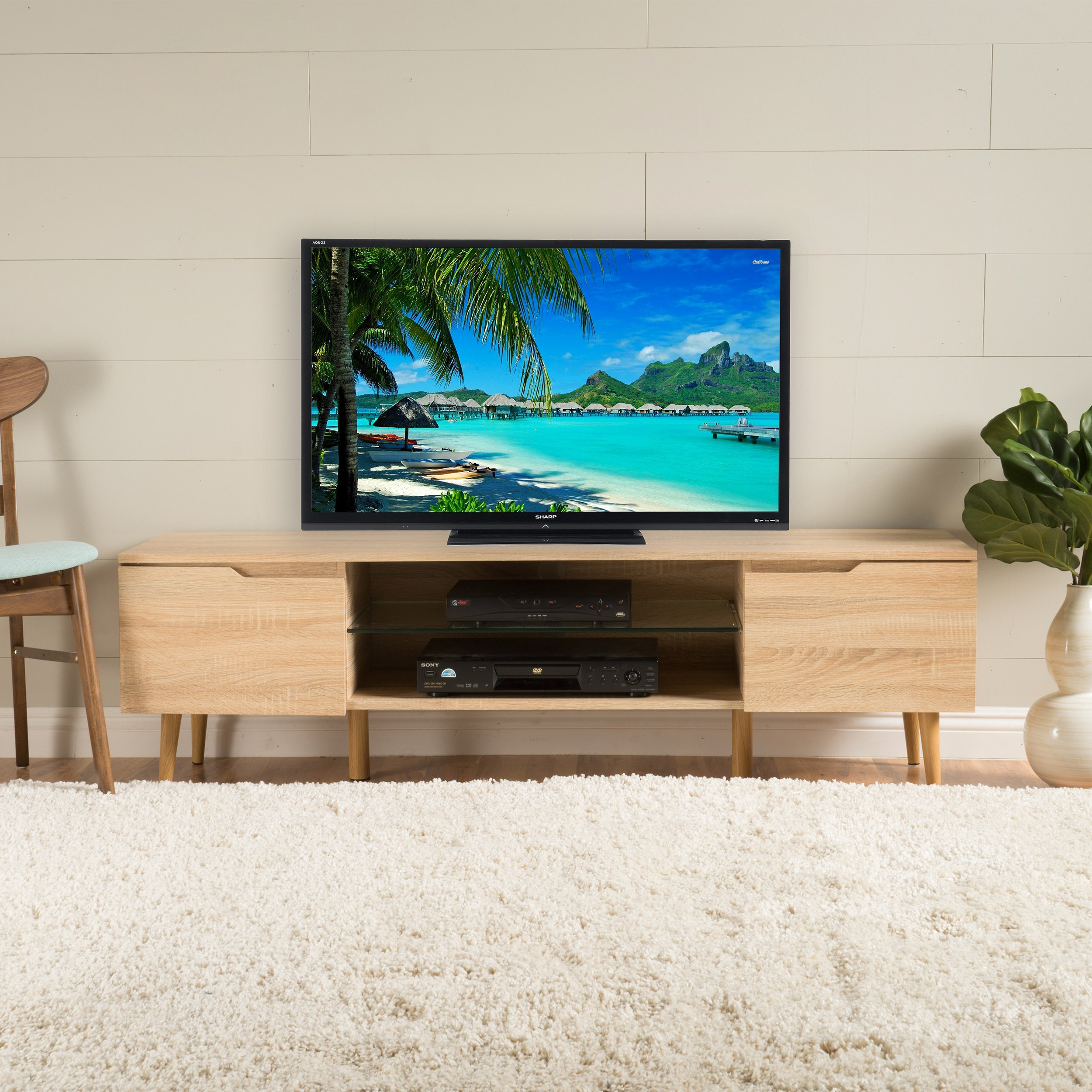 Christopher Knight Home 299077 Rowan Tv Stand, Oak by Christopher Knight Home