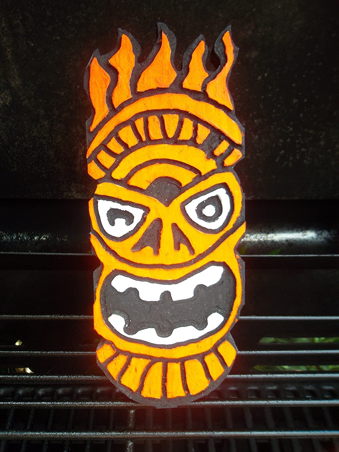 Amazon.com: Fire Wooden Tiki Wall Art, Routed & Painted by Hand ...