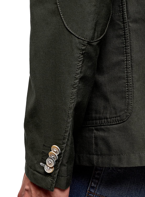 oodji Ultra Herren Taillierter Sakko mit Kn/öpfen
