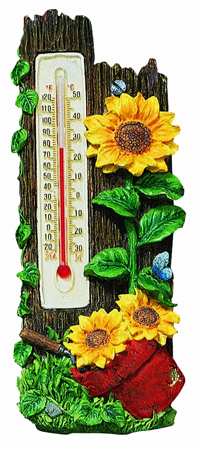 Spoontiques Sunflowers Thermometer hanging outdoors gift yard garden
