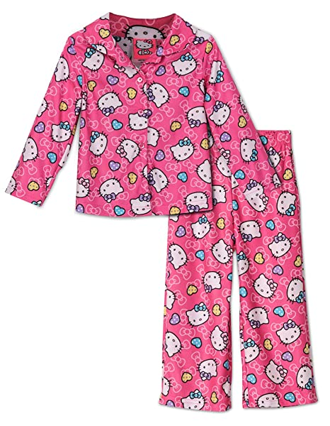 8a964653e Amazon.com: Hello Kitty Toddler Pink Flannel Pajamas (2T): Clothing