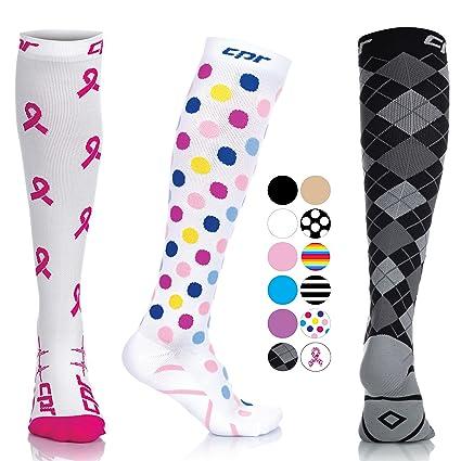 af43380d50 CPR Compression Socks for Women Men Nurses Compression Stockings for Woman  Graduated Compression Sock 20 30 mmHg Knee High Nursing Travel Comfortable  ...