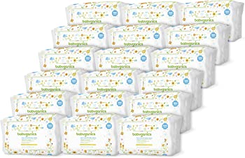 Babyganics Face, Hand & Baby Wipes, Fragrance Free, 1800 Count