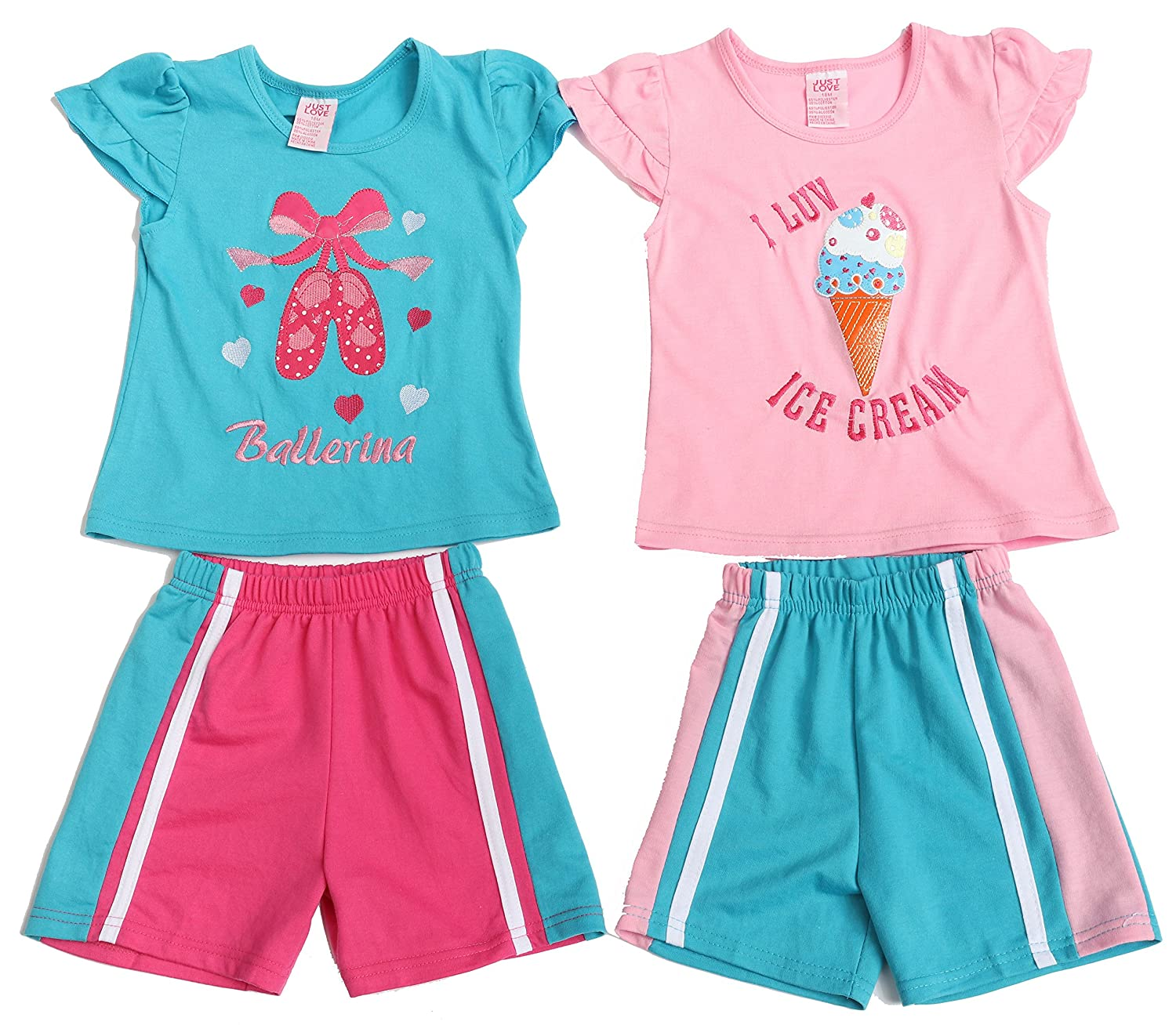 Pack of 2 Just Love Two Piece Short Set