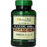 亜麻仁油天然フラックスオイル1000mg120錠!天然植物性オメガ3-6-9!
