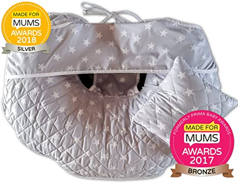 Único 4 en 1 Premium algodón enfermería almohada con Free Mini ...