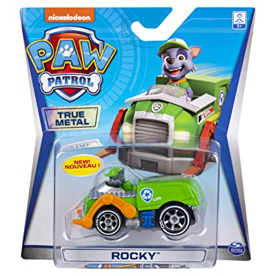Paw Patrol Rocky True Metal Ready Race Rescue Diecast Car: Toys & Games