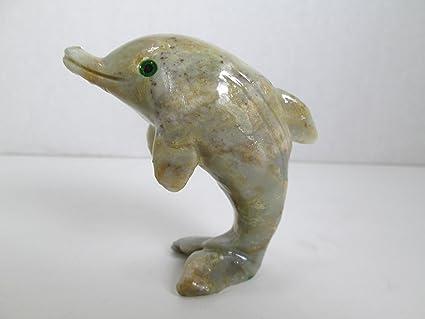 Amazon g i i dolphin soapstone animal carving charm totem