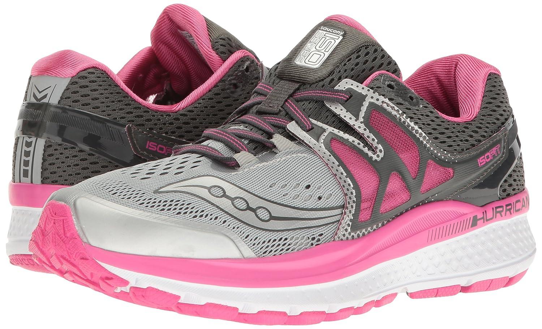 Saucony Women's Hurricane ISO W 3 Running Shoe B01GIJR3YM 7 W ISO US|Grey/Pink/White 9a92c0