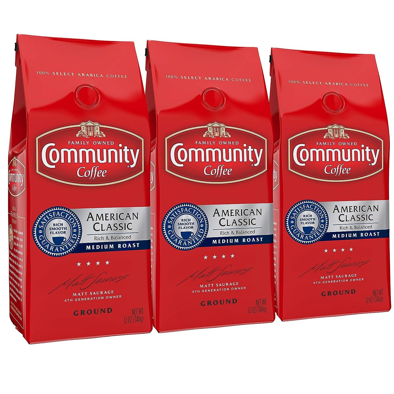 【期間限定送料無料】 Community Coffee American Classic Oz Medium Rich Roast Premium Ground 12 B07JY2DX9V Oz Bag (3 Pack), Full Body Rich Flavorful Taste, 100% Select Arabica Coffee Beans B07JY2DX9V, 丹波山村:f9974a15 --- svecha37.ru