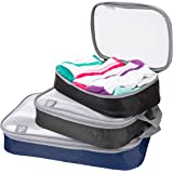 Travelon Set of 3 Lightweight Packing Organizers, Cool Tones, One Size