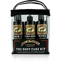 Bickmore Leather Care Kit - Leather Cleaner Conditioner & Protector - Bick 1 Bick 4 & Gard-More - For Cleaning Softening and Protecting Boots Shoes Handbags Purses Jackets and More
