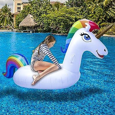 Adults Summer Toys Heavy duty Large Unicorn Swim Seat Boat Beach Pool for Kids