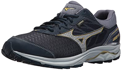 698f72bc0292 Mizuno Wave Rider 21 GTX Men's Running Shoes, Dress Blue/Silver, ...