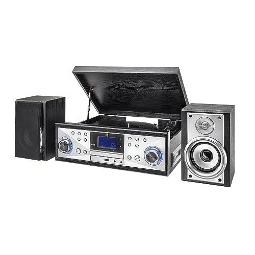 Dual NR 110 Minicadena sistema compacto con tocadiscos con opción para casette leedor de CDs MP3 y puerto USB