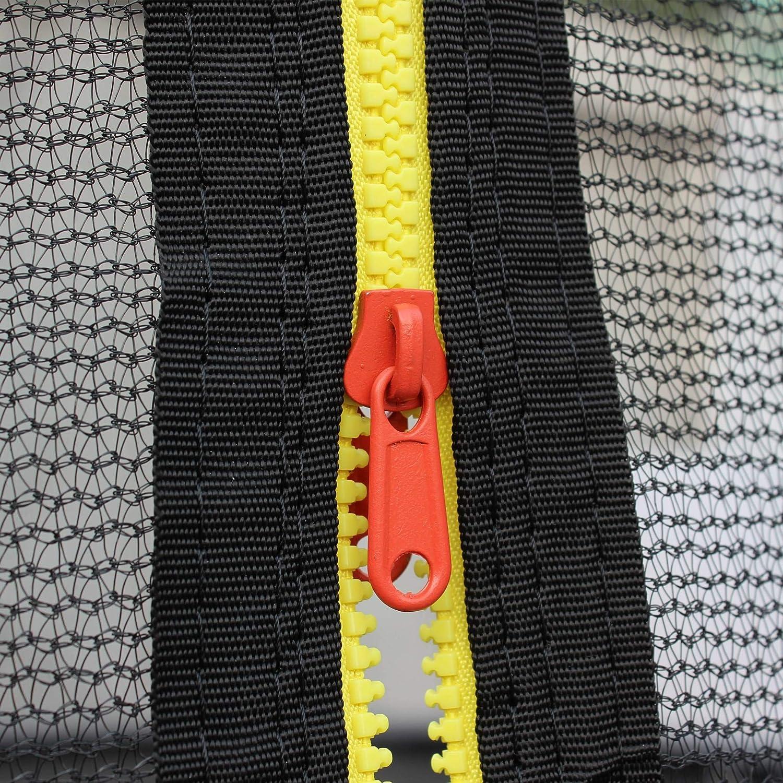 Nouveau mod/èle G/émeaux Trampoline Rond /Ø 250cm Gris avec Son Filet de Protection int/érieur Trampoline de Jardin avec Tubes incurv/és 2,5m 250cm |Normes EU