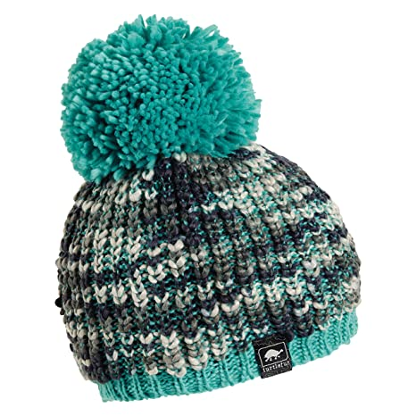 be393ffb004 Turtle Fur Yvonne Women s Variegated Yarn Fleece Lined Pom Winter Hat Aqua
