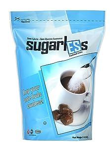 Health Garden Sugarless Erythritol and Stevia Blend Sweetener - All Natural - Non GMO - Kosher- Keto Friendly (5 lbs)