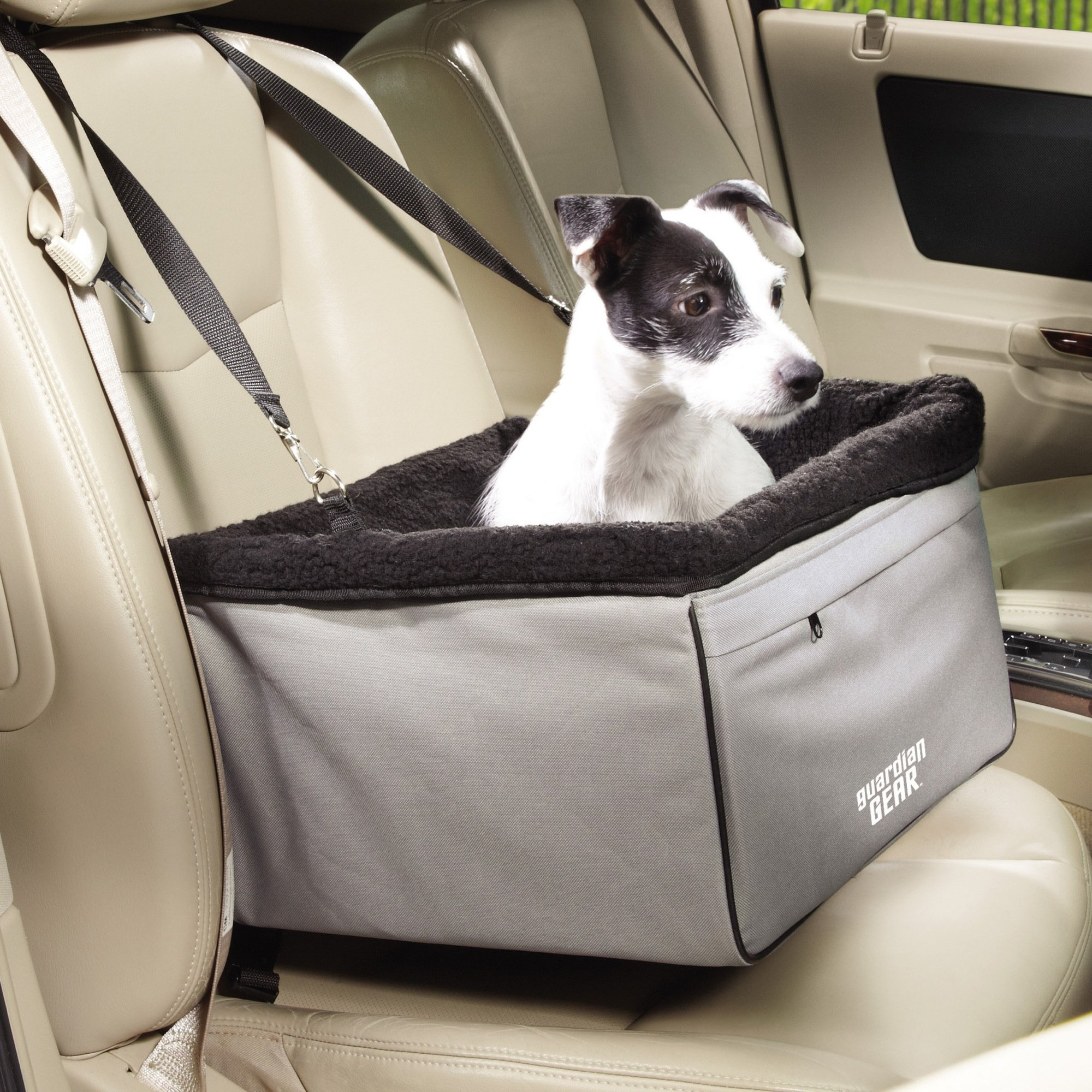 Guardian Gear Sightseer II Car Seats - Practical Car Seats for Dogs - Large, Slate by Guardian Gear