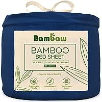 Bamboe hoeslaken | Single Deep Hoeslaken | Temperatuurregeling | Hypoallergeen laken | Ademend Stof | Blauw Navy…
