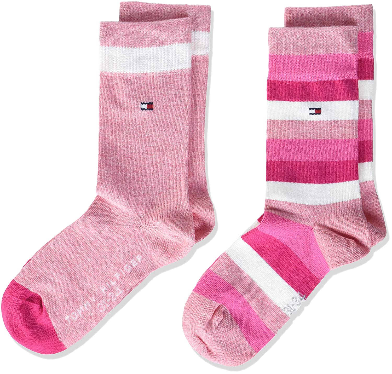 Tommy Hilfiger Mädchen Socken Th Kids Basic Stripe Sock 2p 354009001