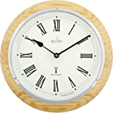 Acctim 74431 Durham Radio Controlled Wall Clock, Natural Oak