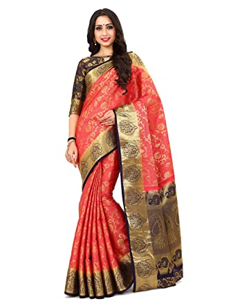 94742145d73c1d Image Unavailable. Image not available for. Color: KUPINDA Mimosa Women's  Art Silk Saree ...