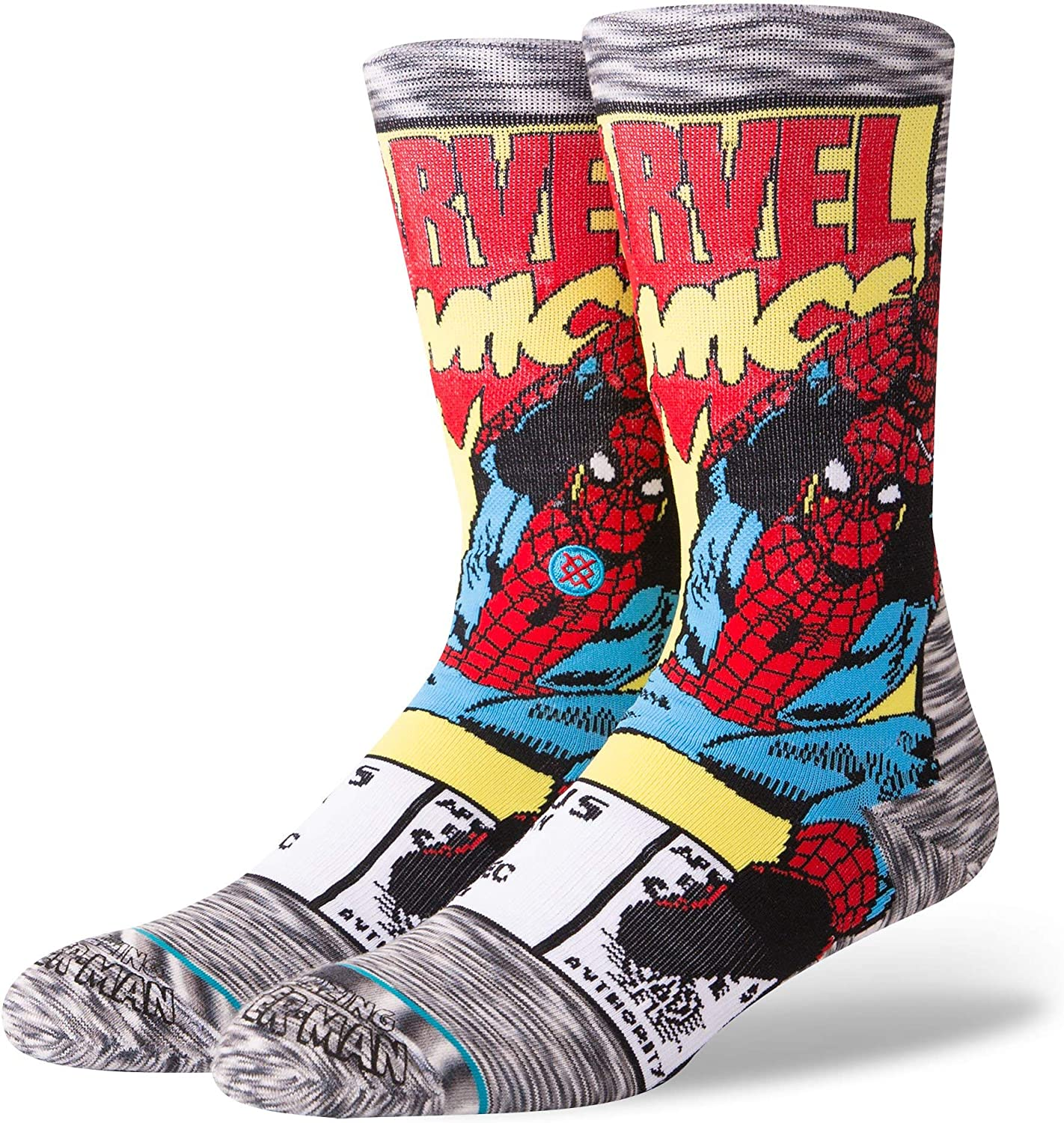 Stance Calcetines Spiderman Comic Gris