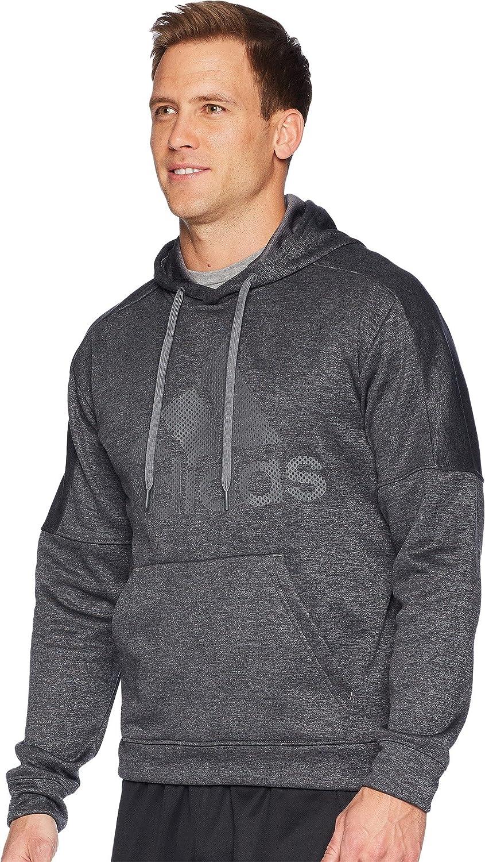 adidas Mens Athletics Team Issue Fleece Logo Pull Over Hoody