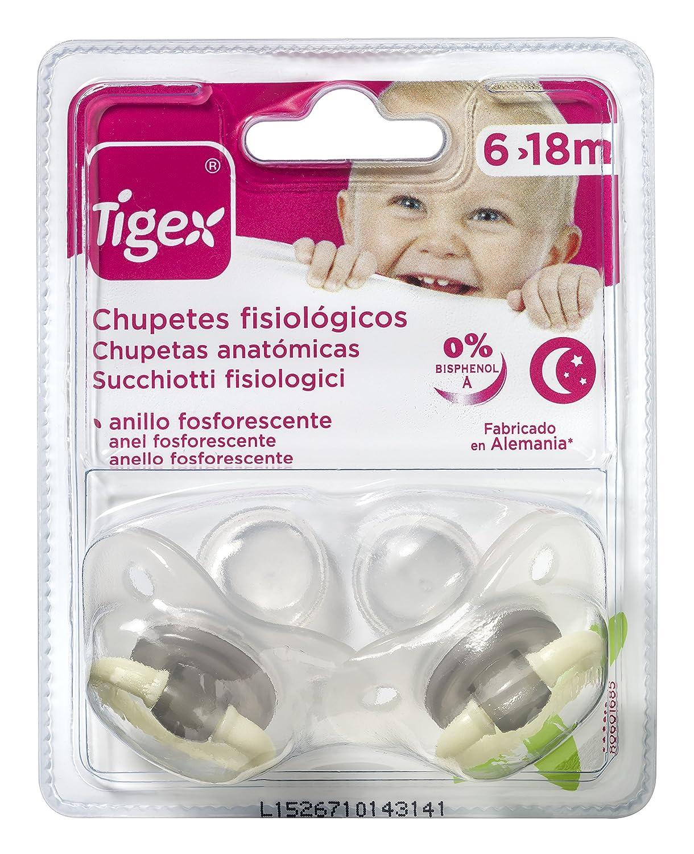 Tigex 80601685 - Pack de 2 chupetes de silicona fisiológicos de ...
