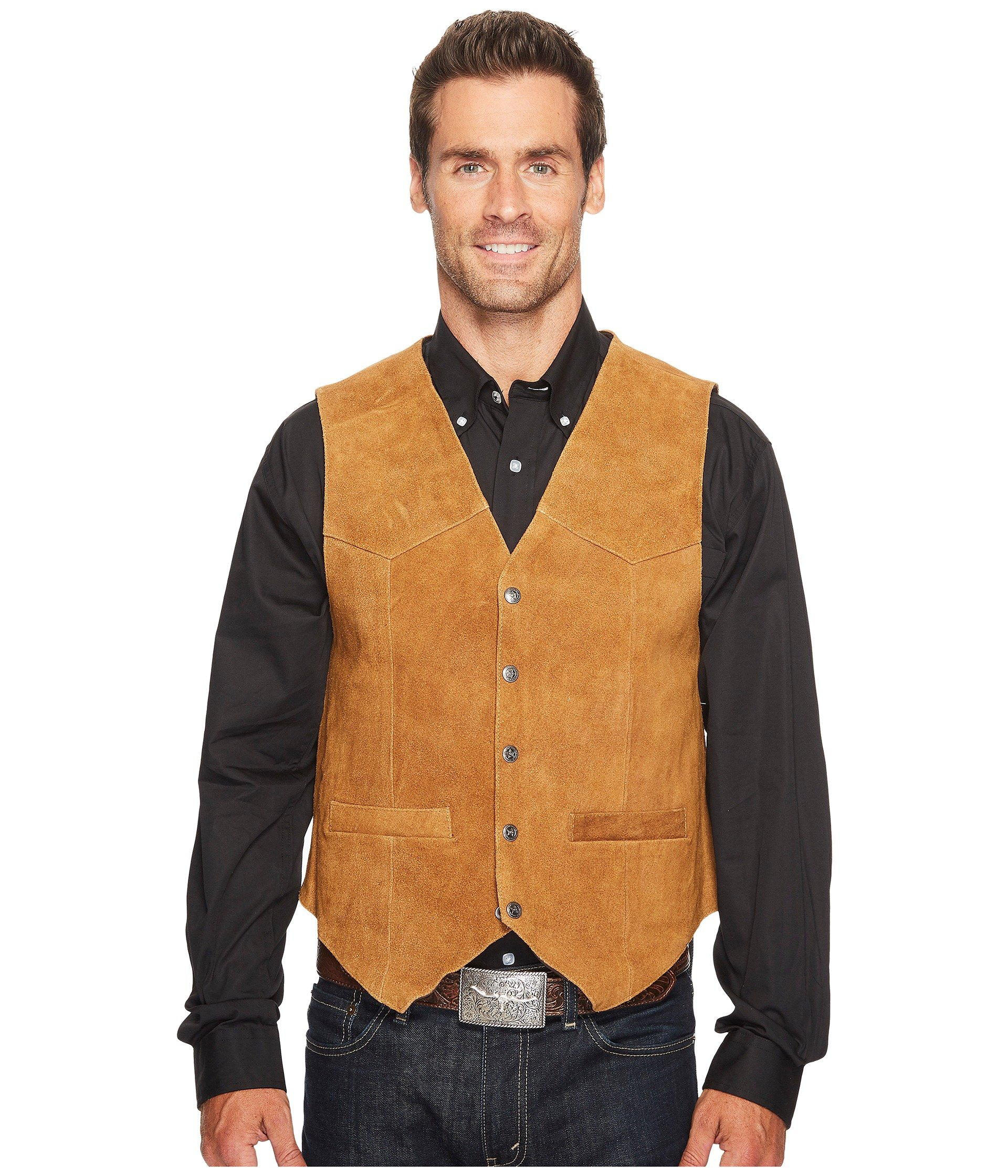 Scully Men's Rugged Calf Suede Vest Rust XL Tall by Scully