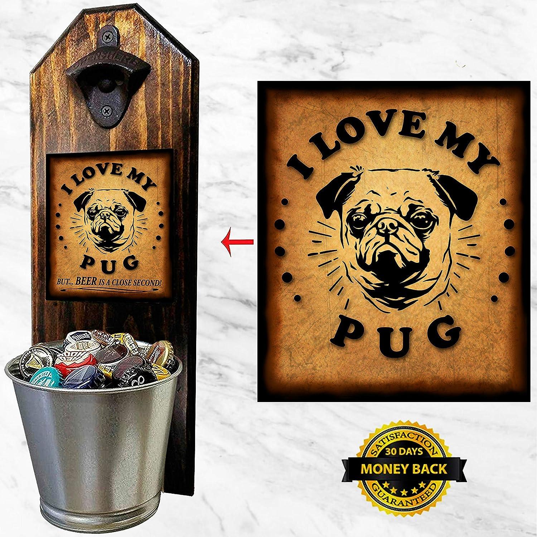 Love Pugs Bottle Opener