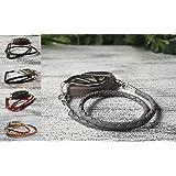 Leather Bolo Wrap Bracelet or Bellabeat Nature, Urban or Impulse Leaf Bracelet