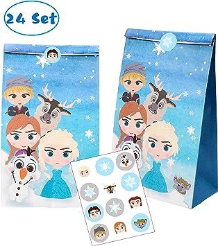 24 pcs Disney Princess Party Favor Goody Gift Loot Bag Girls Birthday Supply
