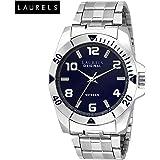 Laurels Polo Blue Dial Analog Wrist Watch - For Men