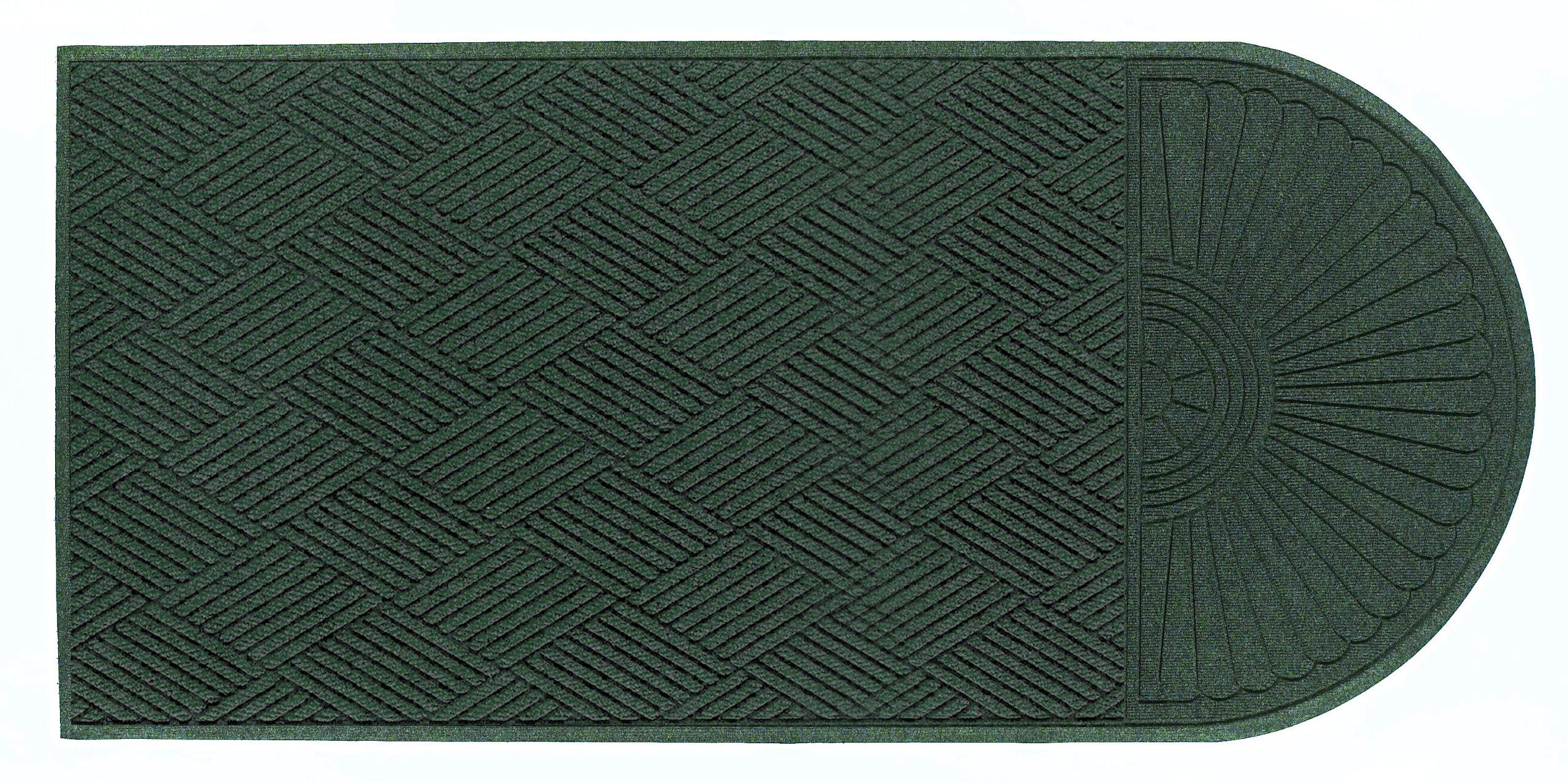 M+A Matting 22248 Waterhog Eco Grand Premier PET Polyester Fiber Single End Entrance Indoor/Outdoor Floor Mat, SBR Rubber Backing, 11.6' Length x 6' Width, 3/8'' Thick, Southern Pine
