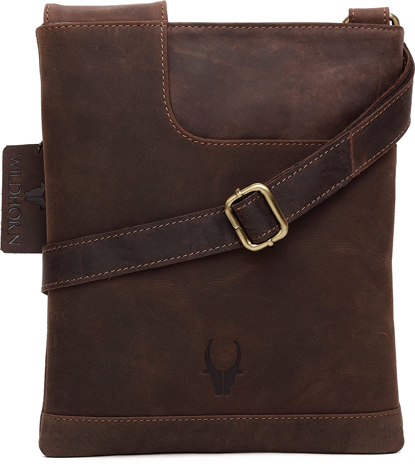 WildHorn Leather 21.59 cms Brown Messenger Bag (WHM207)  Amazon.in  Bags 5c55c8d9cd535