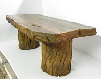 Lovely Handmade Fossilized Bench Concrete Table, CF 302 Petrified Log Bench  U0026quot;Cast Stone Images