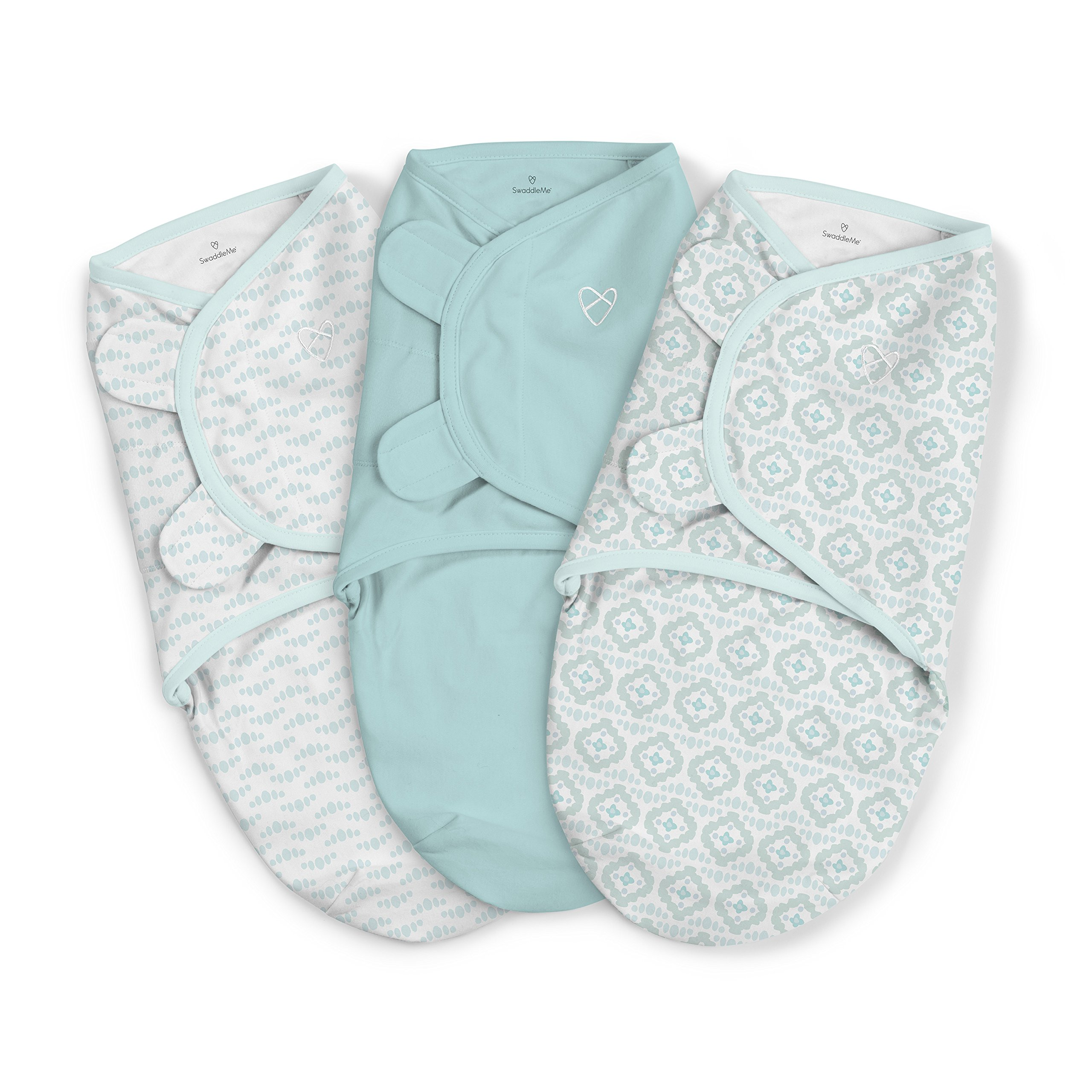 SwaddleMe Original Swaddle 3-PK, Newport Shores, Small by SwaddleMe